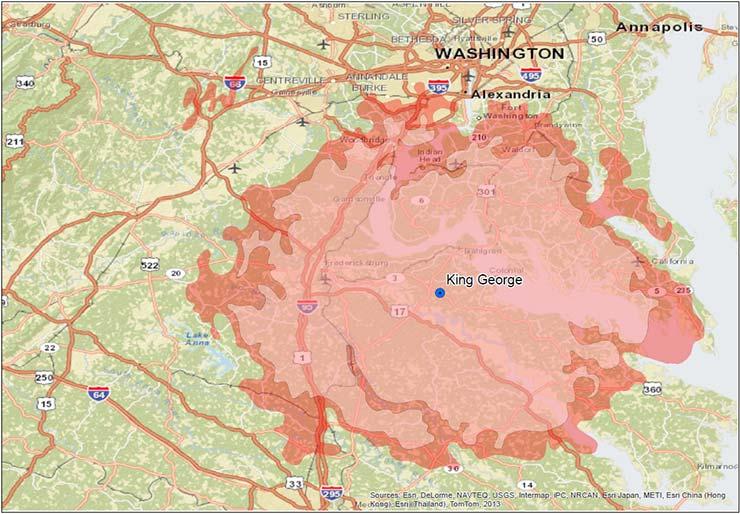 Coverage maps Motorola Two Way Radio Dealer Fredericksburg Virginia